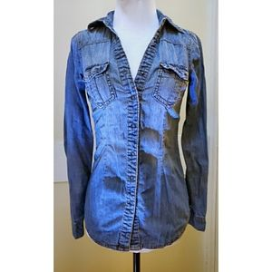 Garage Blue Denim Style Button Up